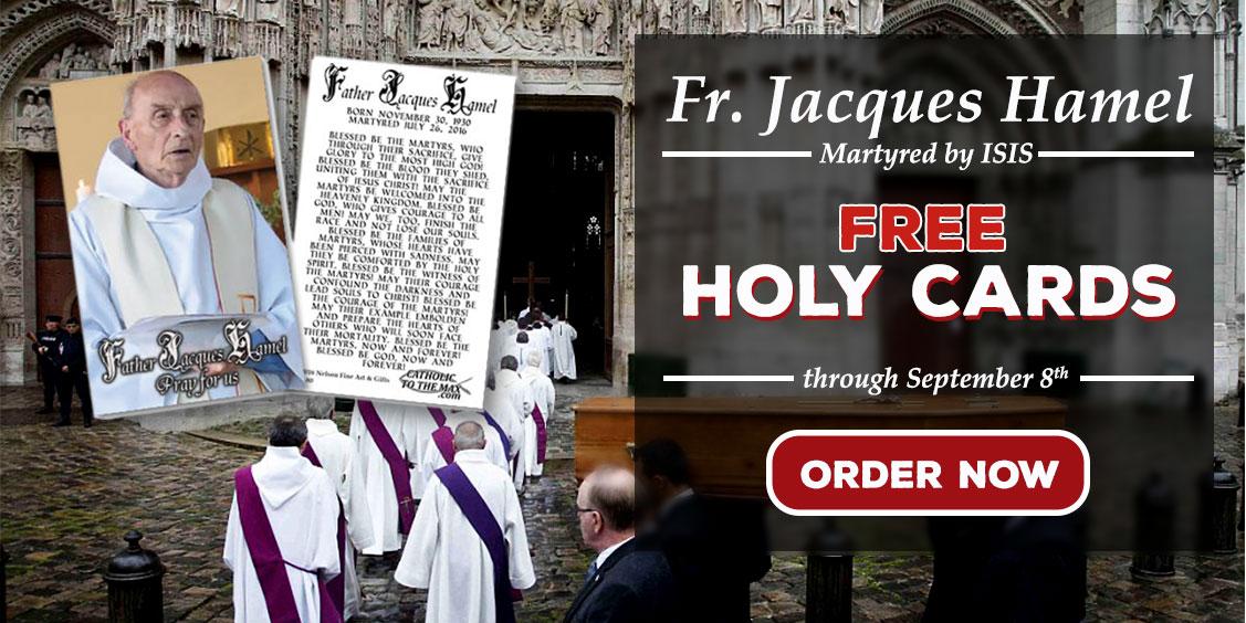 Free Fr Jacques Hamel Holy Cards
