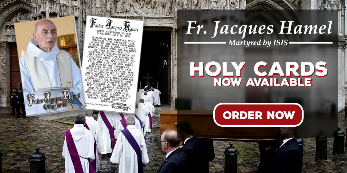 Free Fr Jacques Hamel Holy Cards