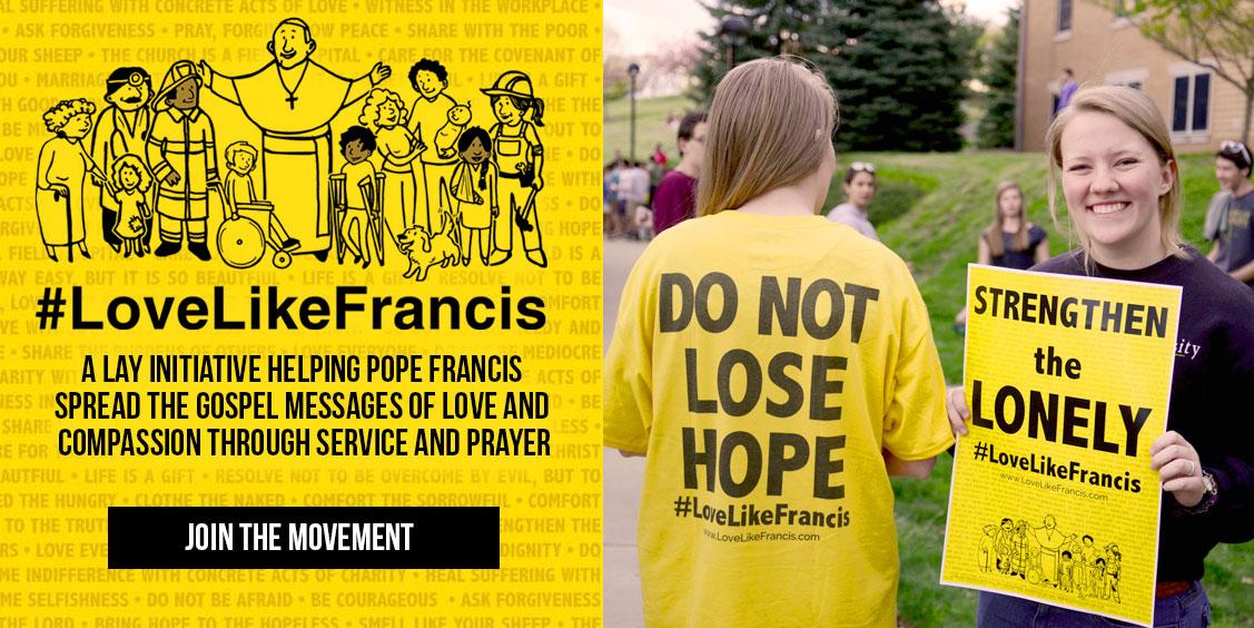 #LoveLikeFrancis website slide